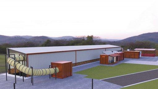 HySA's clean mining ventilation test facility.