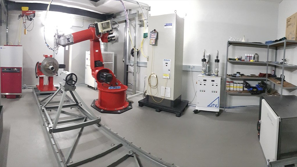 LASER PRECISION  Thermaspray's laser cladding system was launched at its Olifantsfontien facility