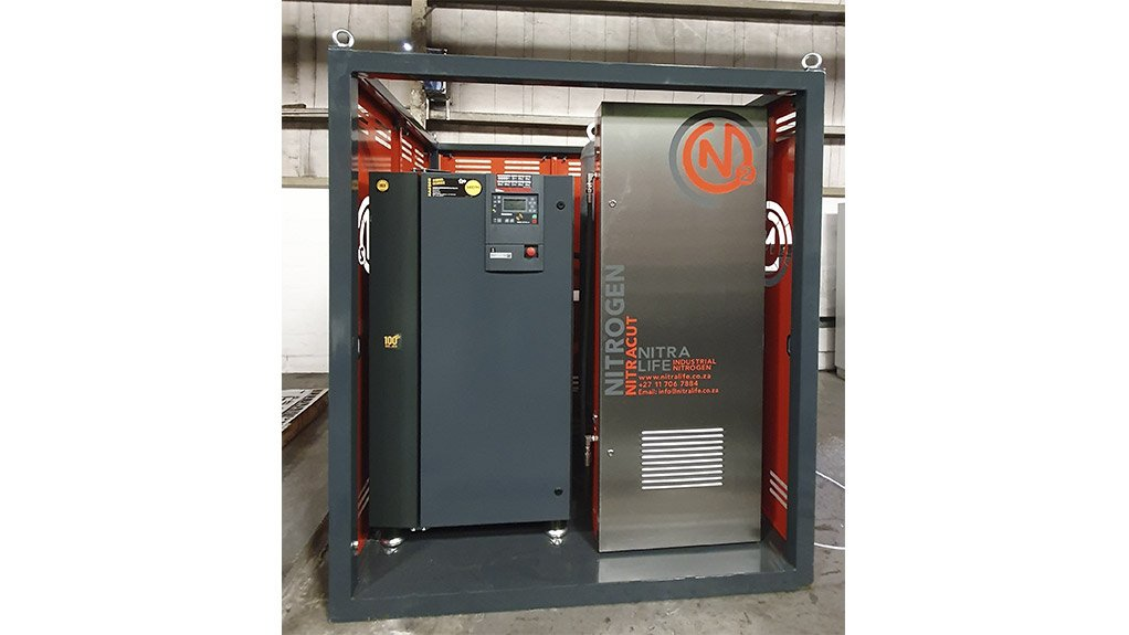 NITROGEN GENERATION The NitraCut system was specifically designed for the laser cutting market