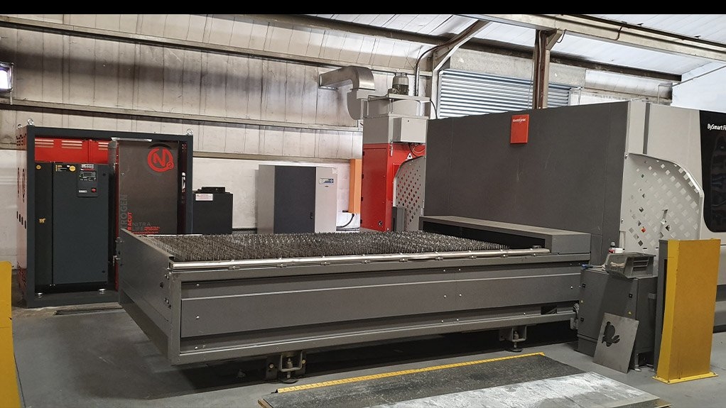 WORKING PARTNERSHIP Bystronic markets every fibre laser with a NitraCut generator to its fabrication customers