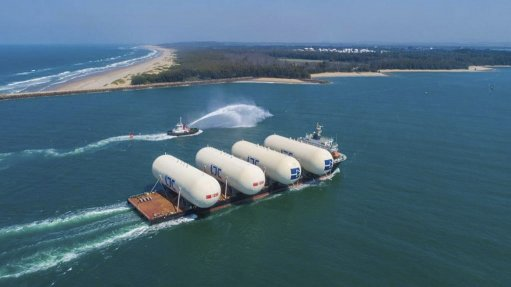 New LPG storage tanks arrive in Richards Bay for Petredec facility