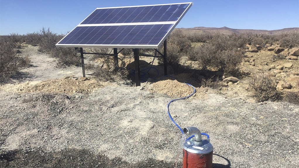 WATER FROM THE ROCK Life-saving groundwater can now be pumped to the surface using Grundfos SQFlex solar-operated borehole pumps