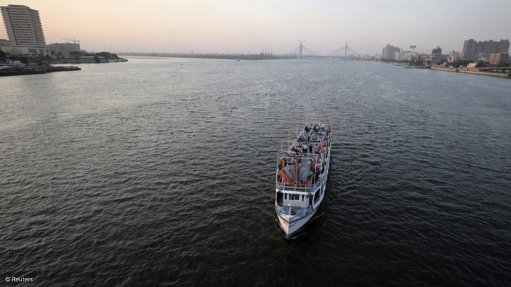 The Nile river in Egypt