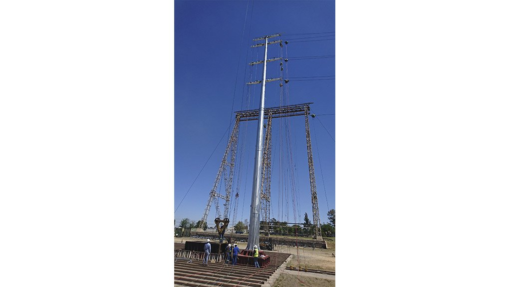 NO SUPPORT Self-supported masts are designed to support conductors without any external support such as a strut or stay wires