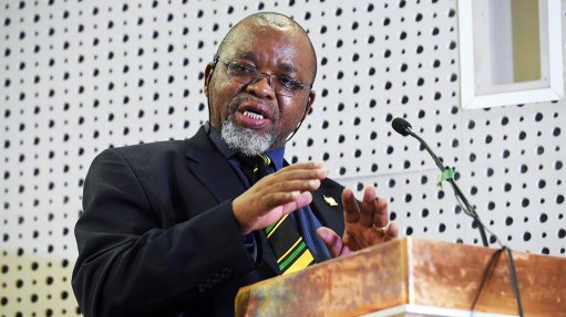 Mineral and Energy Resources Minister Gwede Mantashe