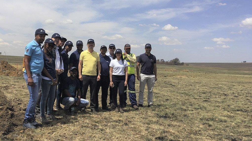 The team on an ENERTRAG site visit