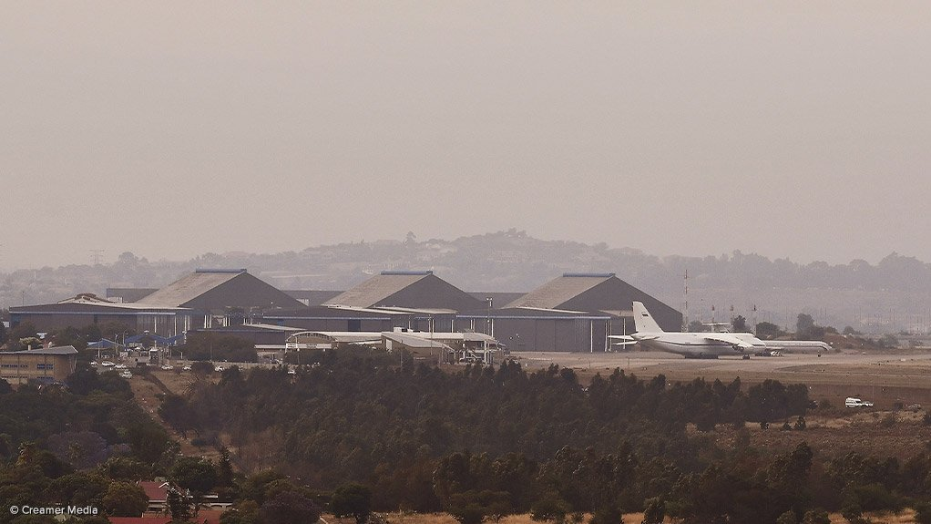 The AFRF's Antonov AN124 cargo plane parked at the Waterkloof Air Force Base