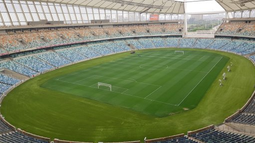 Artificial turf scores at the Moses Mabhida stadium