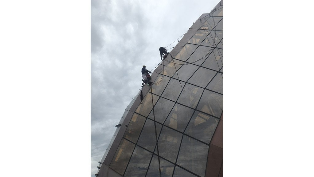 SEAL THE DEAL Finalising waterproofing on the hotel was challenging because there were no straight vertical or horizontal surfaces.