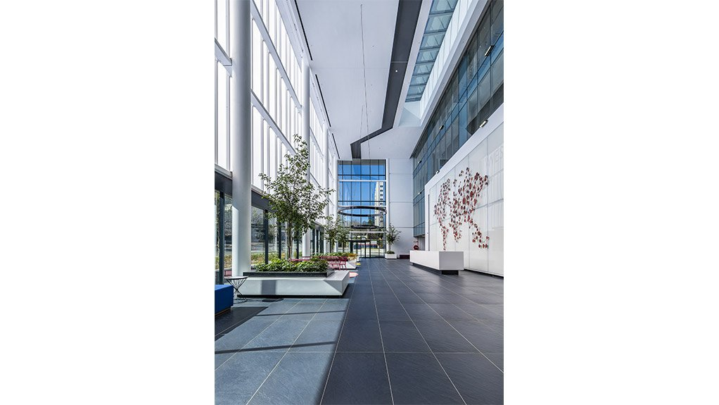 AMPLE ATRIUM The new atrium and entrance is three storeys high and allows for more natural light