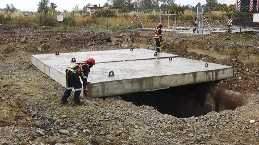 Shaft capping prevents illegal mining, improves ground safety