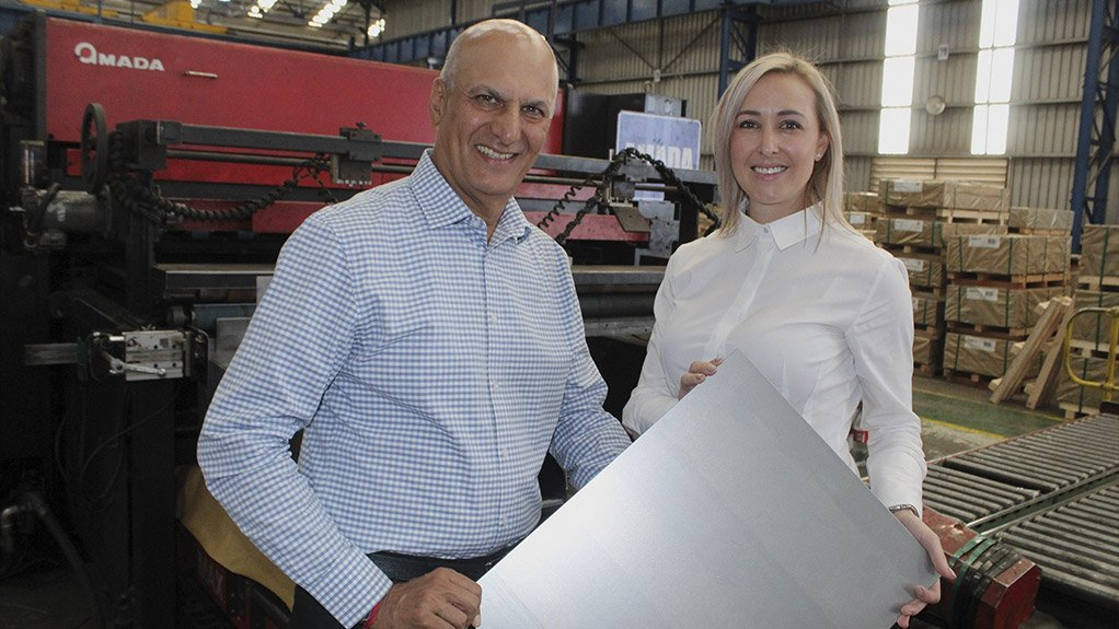 STEELY INVESTMENT  Allied Steelrode CEO Arun Chadha and automotive sales GM Lee-Ann Geyser hope to meet customer expectations through investing in new equipment
