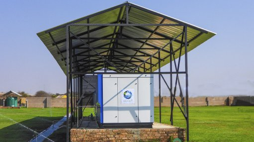 FIRST-OF-ITS-KIND The construction of the atmospheric water geberating plant began in 2018 with a team of committed engineers and local small, medium-sized and microenterprises