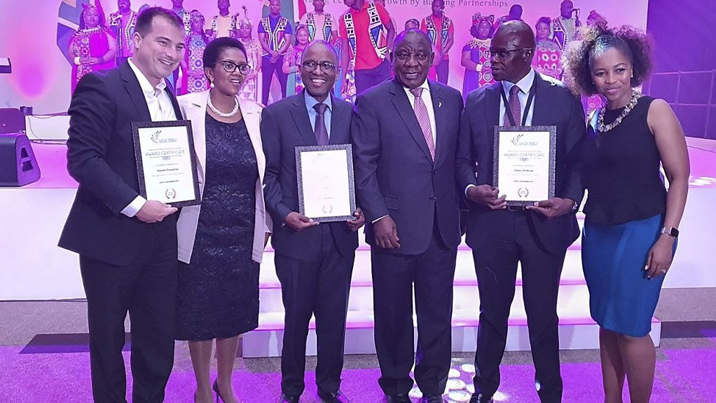 CREATING LOCAL VALUE   The award is in recognition of automotive component manufacturers in SA who create value in South Africa and contribute to exports and GDP