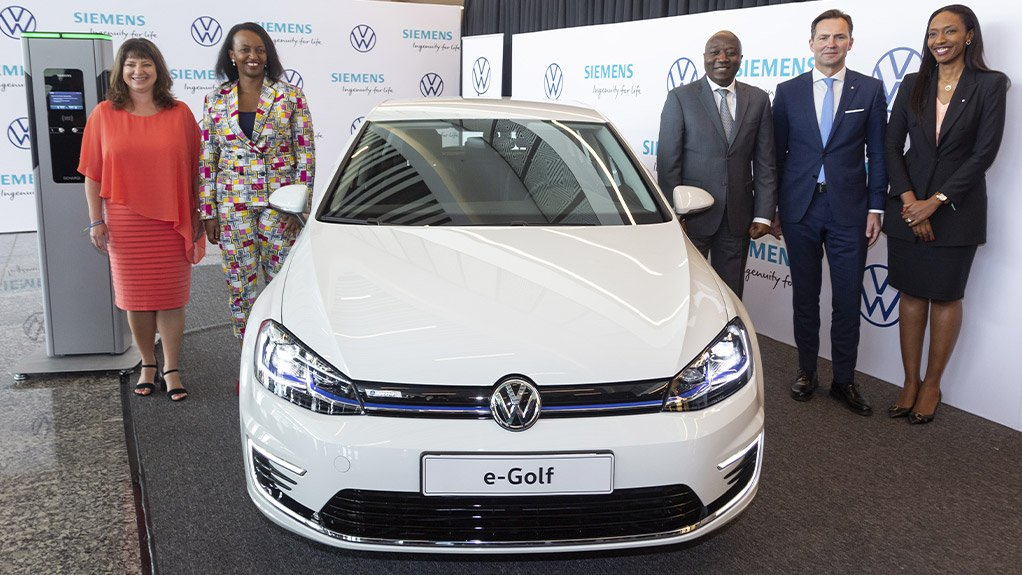 ELECTRIC MOBILITY  The project was launched in partnership with Siemens, in Kigali, and forms part of Volkswagen's operations in the country