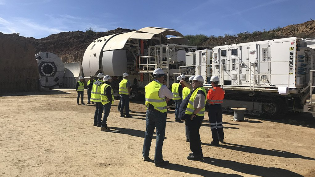 MTB TESTING Master Drilling is undertaking field testing of its mobile tunnel borer at platinum producer Northam Platinum's Eland mine, in the North West