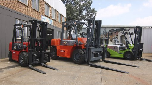 RAISING THE BAR The new models of JAC forklifts will enter the South African market this year