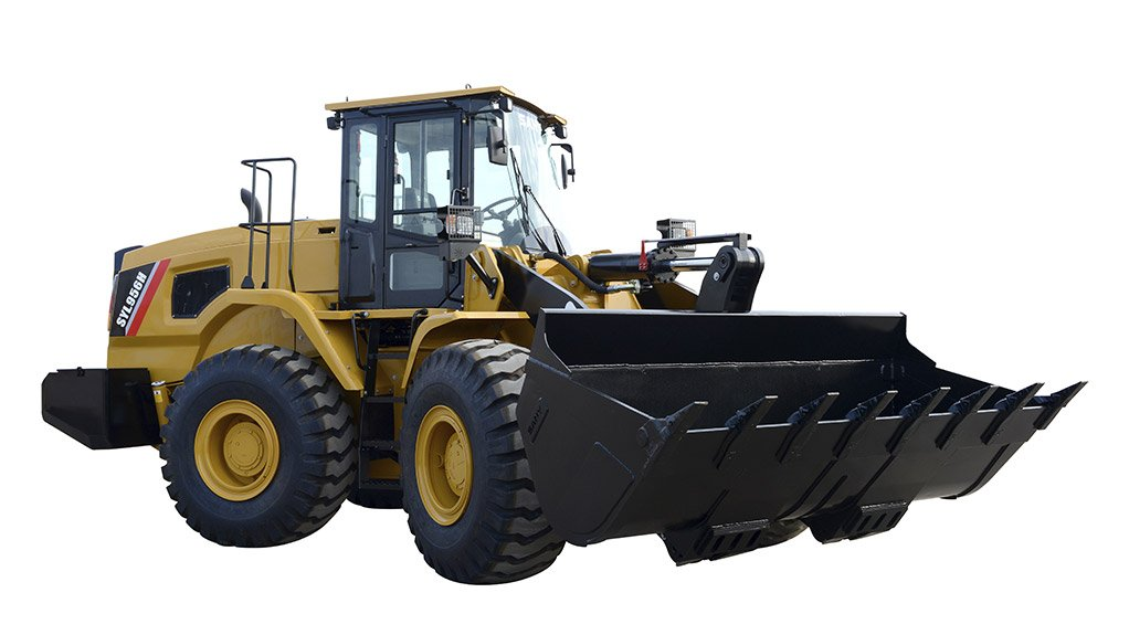 GET A LOAD OF THIS The SY956 front-end loaders can swop out their buckets for larger ones