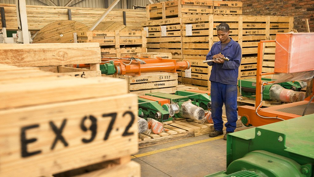 Demand for Condra crane components abroad