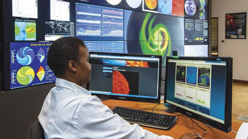 STAR FORECASTERS A view of SANSA Space Science's current Space Weather Centre