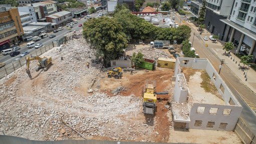 Demolition works under way at Melrose Arch