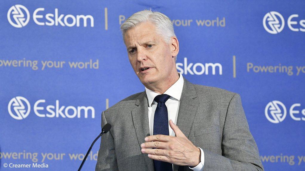 Eskom CEO Andre de Ruyter