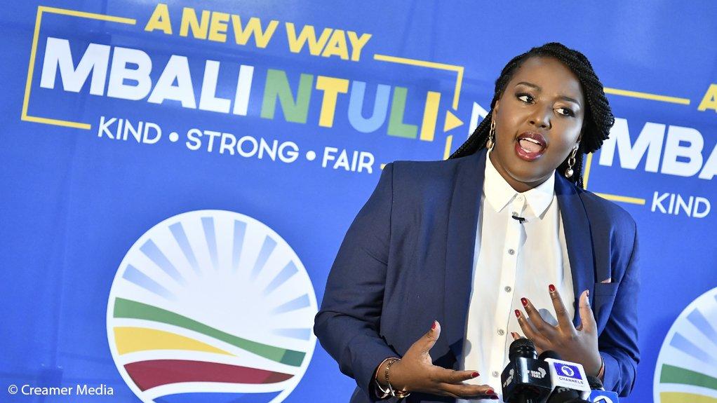 Former DA youth leader Mbali Ntuli