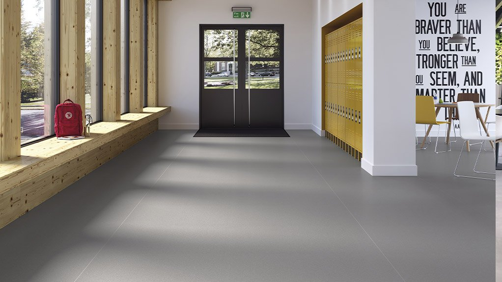 PICTURE PERFECT The recipe for a perfectly fitted vinyl floor starts with a well laid self-leveling screed