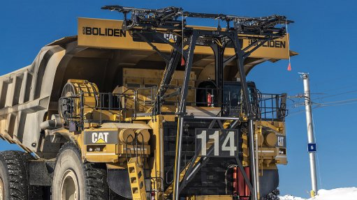 Caterpillar introduces trolley assist system for Cat® electric drive mining trucks