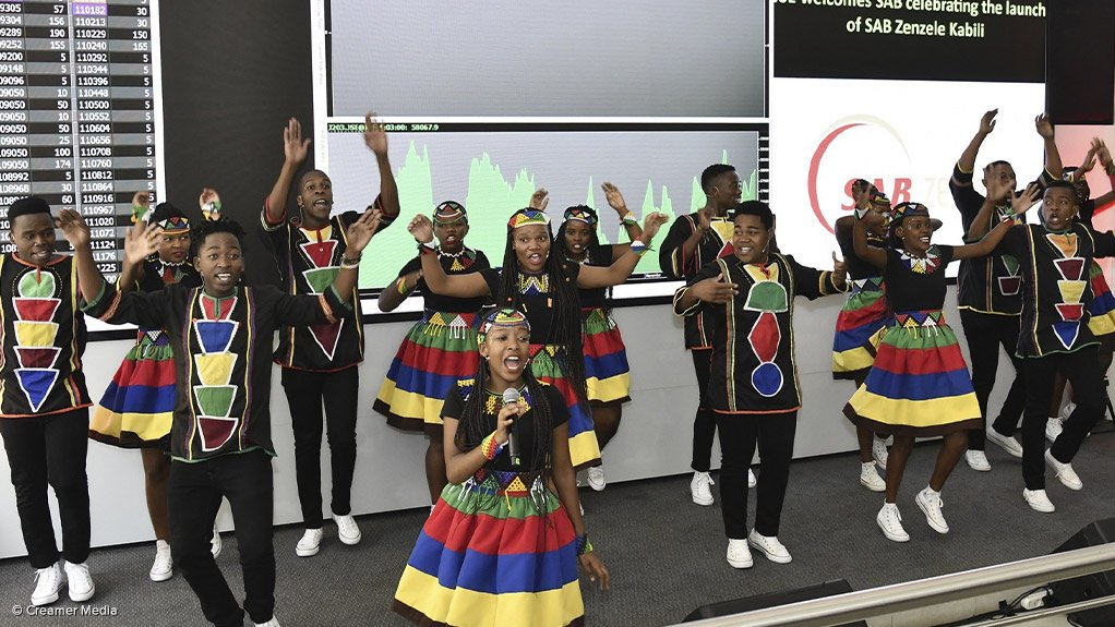The Ndlovu Youth Choir performed on Monday following the launch of the SAB Zenzele Kabili transaction scheme.