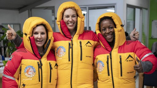 K-Way designs down suits for first all-female S African Everest team