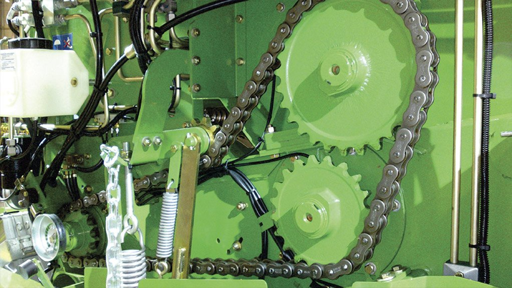 TOUGH CONDITIONS BMG supplies Tsubaki RS100HT heavy-duty reinforced roller chain to meet the high-volume capacity of agricultural machinery in tough operating conditions