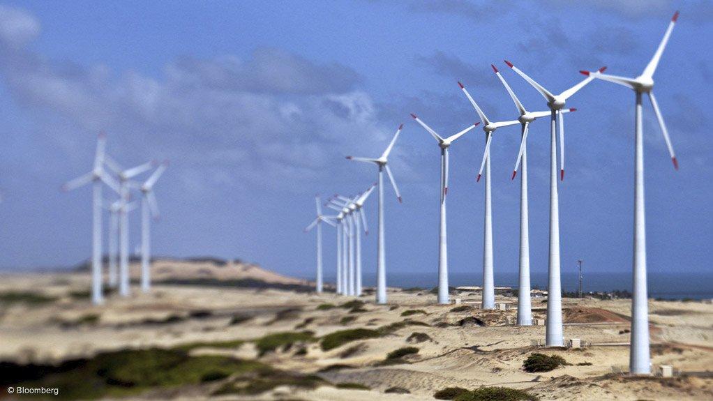 A wind farm operating in Brazil