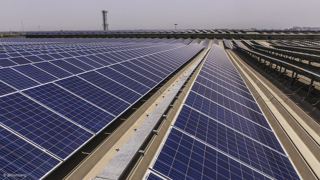 A solar PV plant in India