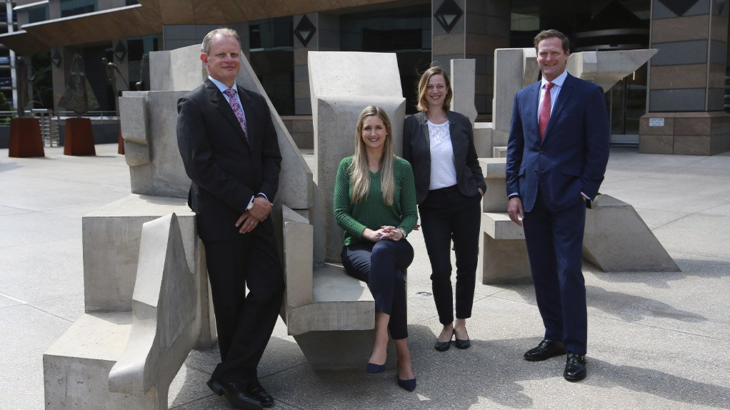 From left to right: Greg Ansermino - FIRST, Amber Bolleurs – RMB, Almut Ahlers – KfW, Hugh Hawarden – RMB