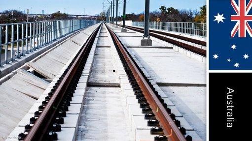 Frankston railway line level-crossing removal project, Australia