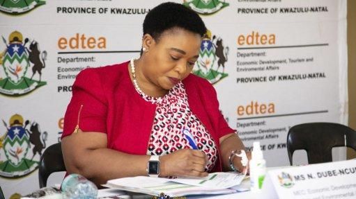 KZN MEC for EDTEA Nomusa Dube-Ncube