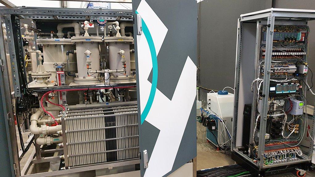 Hydrox Holdings membraneless electrolyser.