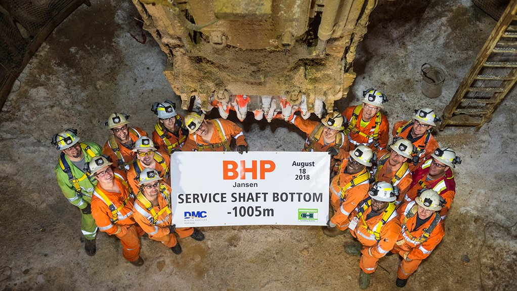 HITTING ROCK BOTTOM The Jansen project was the first time globally that mining shafts have been sunk successfully using only mechanical excavation