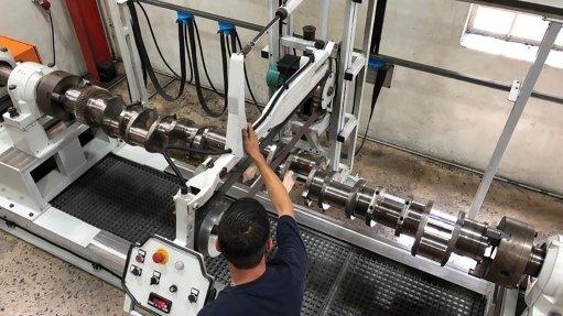 Crankshaft for diesel engine gets a turn