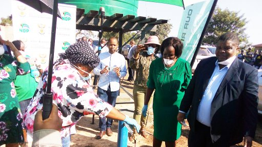 Mpumalanga communities receive boreholes, storage tanks to curb Covid-19 spread