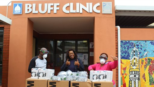 Sapref donates masks, goggles to community clinics