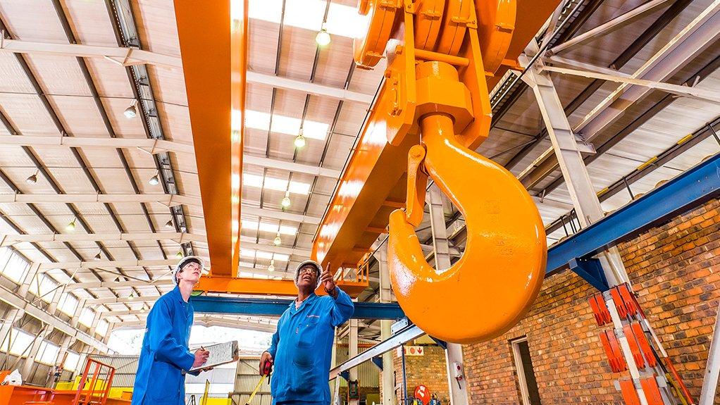 BIG JOB Refurbished 20 m span Condra crane for Implats