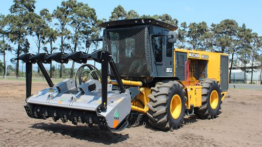MULCH ADO The Bell M350 Mulcher is a niche solution developed in consultation with customers from the South African forestry industry