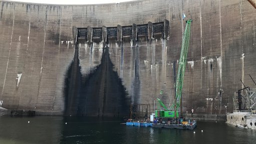 Kariba dam plunge pool stabilised