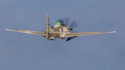 Nigerian Air Force Super Tucano light attack plane has made first flight