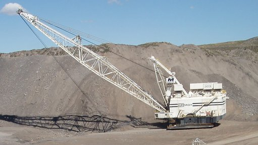 Post-Covid delivery of crane for colliery's dragline excavator