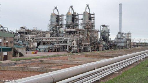 The PetroSA refinery in Mossel Bay