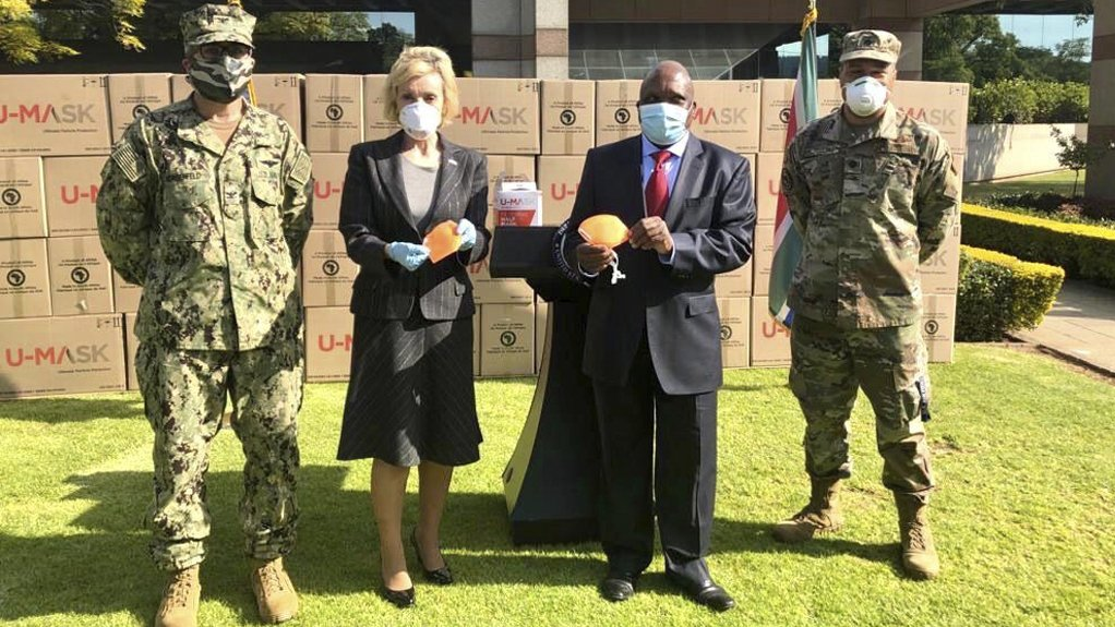 US donates 730000 masks for South Africa's health department