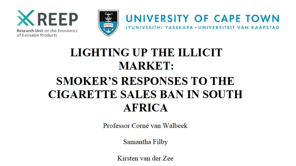 Lighting Up The Illicit Market: Smoker's Responses To The Cigarette Sales Ban In South Africa